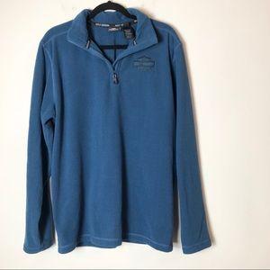 Harley Davidson Blue Fleece Pullover